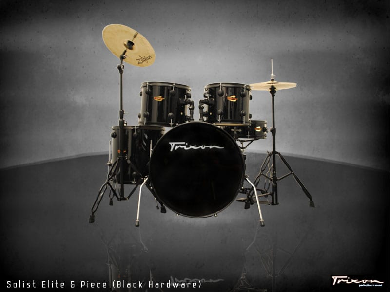 Trixon Solist Elite 5-Piece – Black with Black Hardware