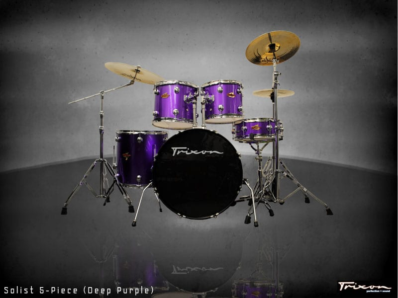 Trixon Solist Elite 5-Piece – Deep Purple