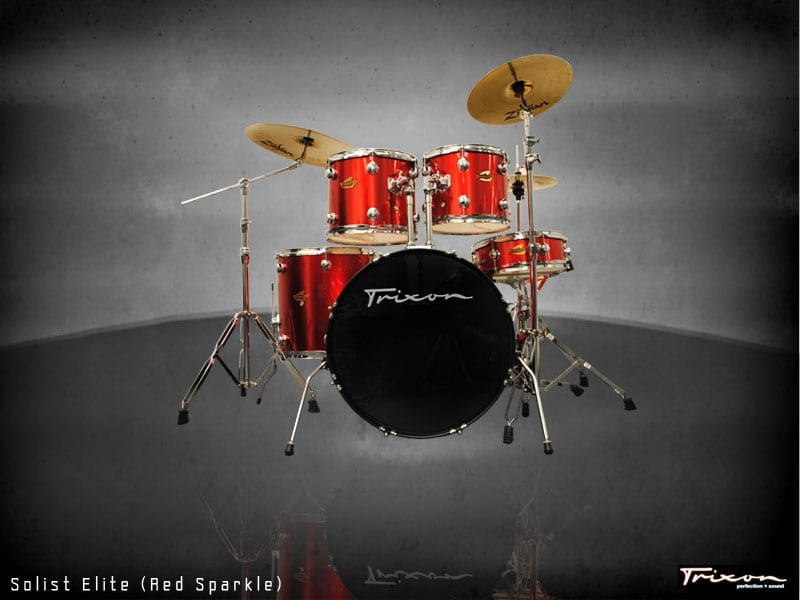 Trixon Solist Elite 5-Piece – Red Sparkle