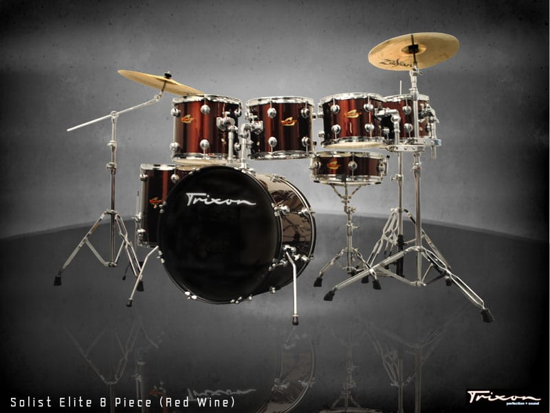 Trixon Elite 7-Piece Gig Kit – Wine Red