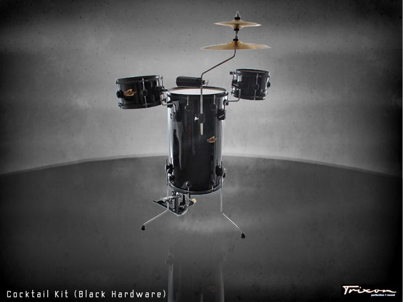 Trixon Cocktail Elite Drum Kit – Black with Black Hardware