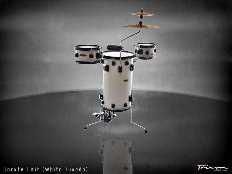 Trixon Cocktail Elite Drum Kit – White Tuxedo