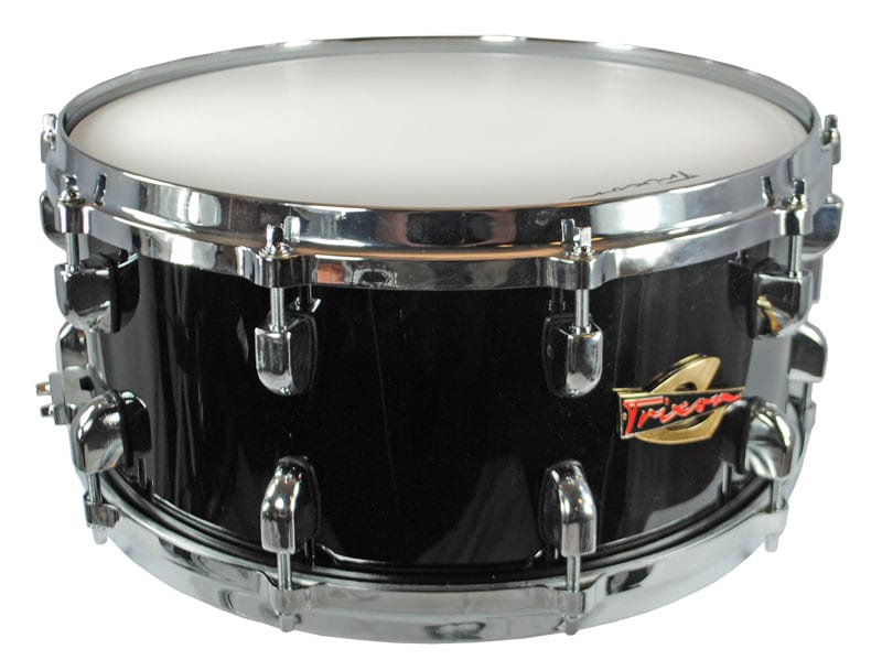 Trixon Solist Elite Wood Shell with Die Cast Hoops 14″x6.5″ – Black Color