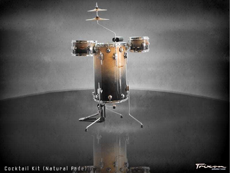 Trixon Cocktail Elite Drum Kit – Natural Fade