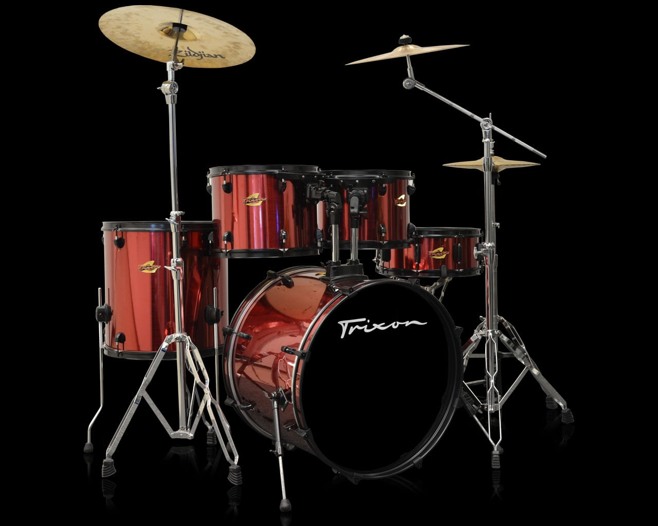 Trixon 5-Piece Birch Kit – Stainless Crimson