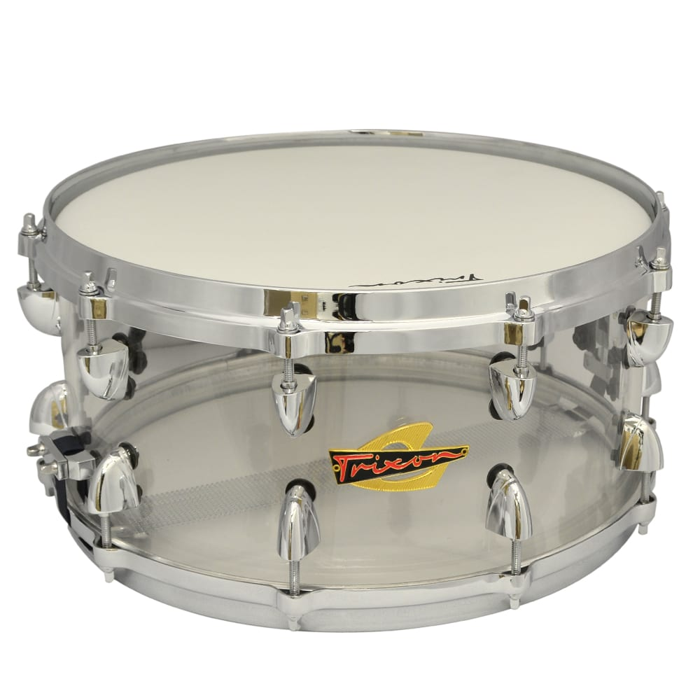 Solist Acrylic Snare Drum 14 by 6.5″ – Clear