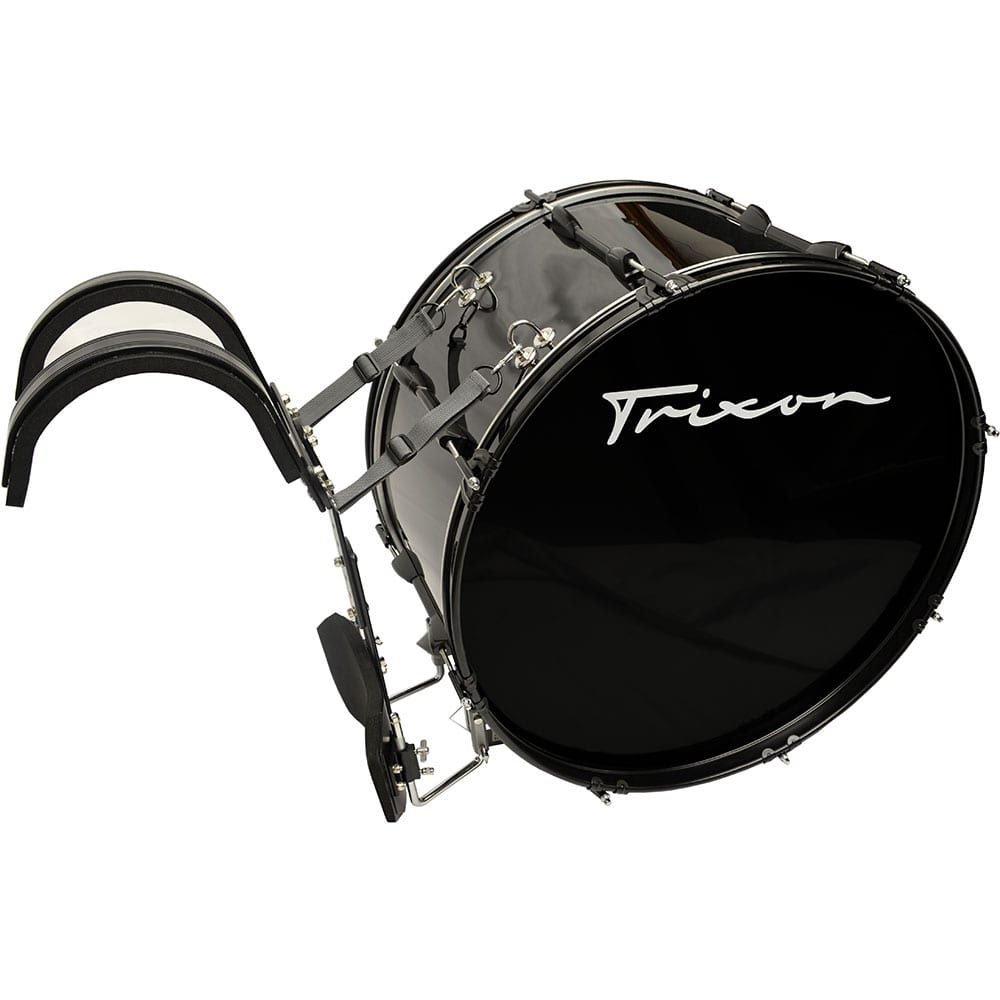 Field Series II Marching Bass Drum 28 by 12″ Black Polish