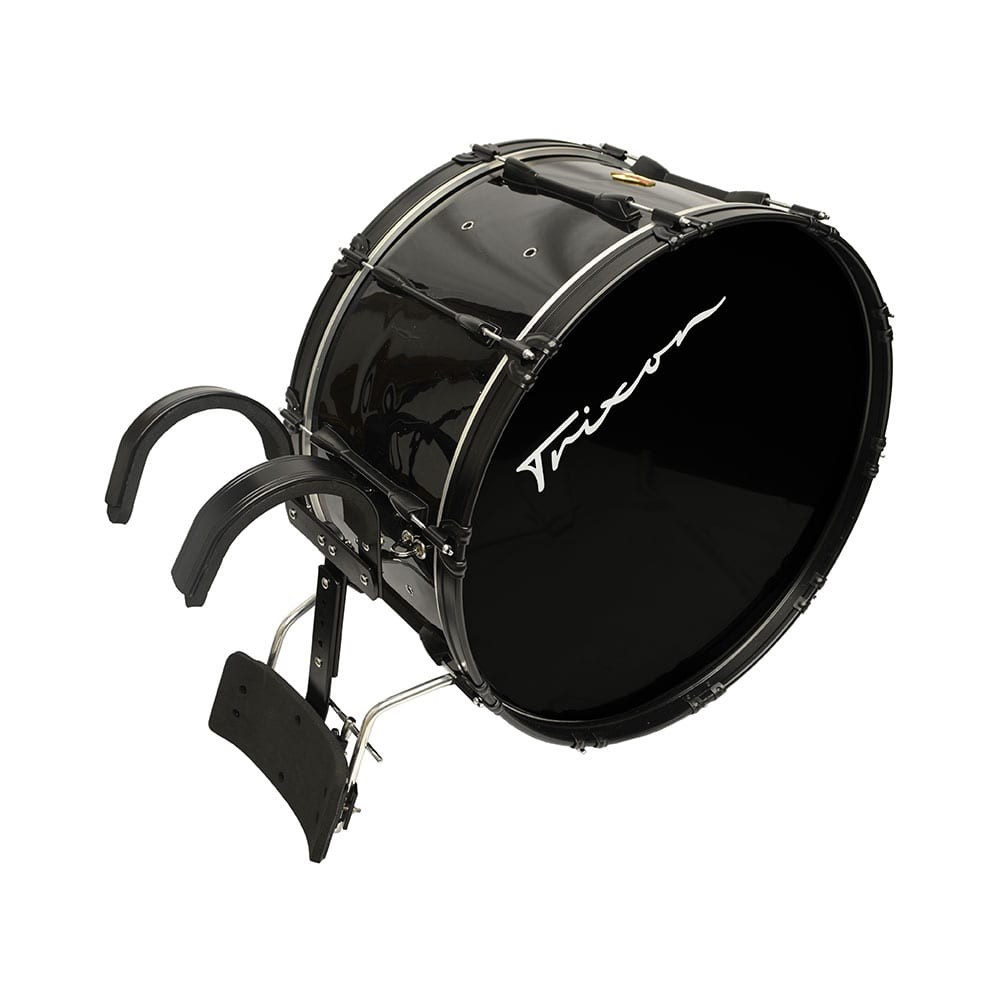 FIELD SERIES PRO MARCHING BASS DRUM 24 BY 14″ BLACK POLISH