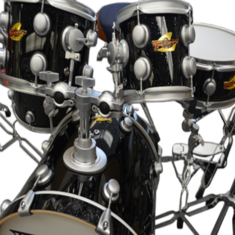 5 Piece Volta Drumset - Black Sparkle