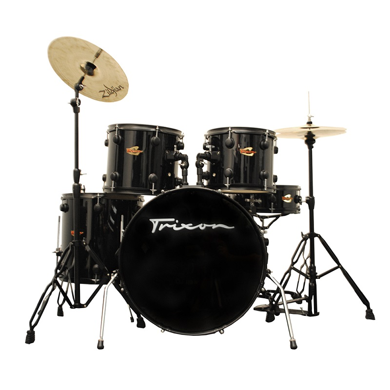 Trixon Solist Elite 5-Piece - Black with Black Hardware