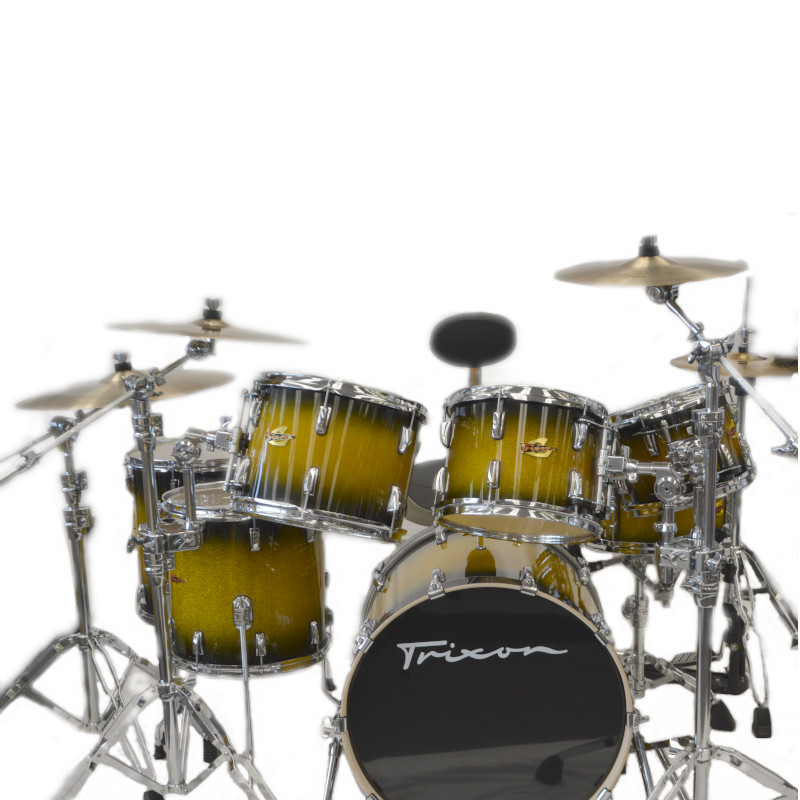 Trixon 7 Piece Elite Performer Drumset - Green Sparkle