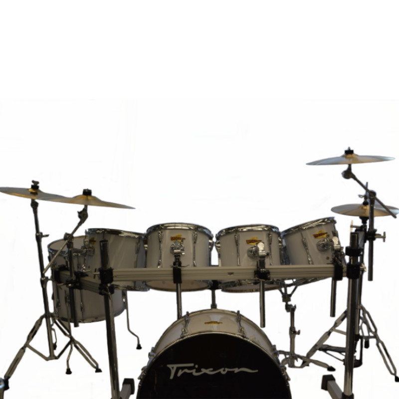 Trixon 7 Piece Bandmaster Drumset - White