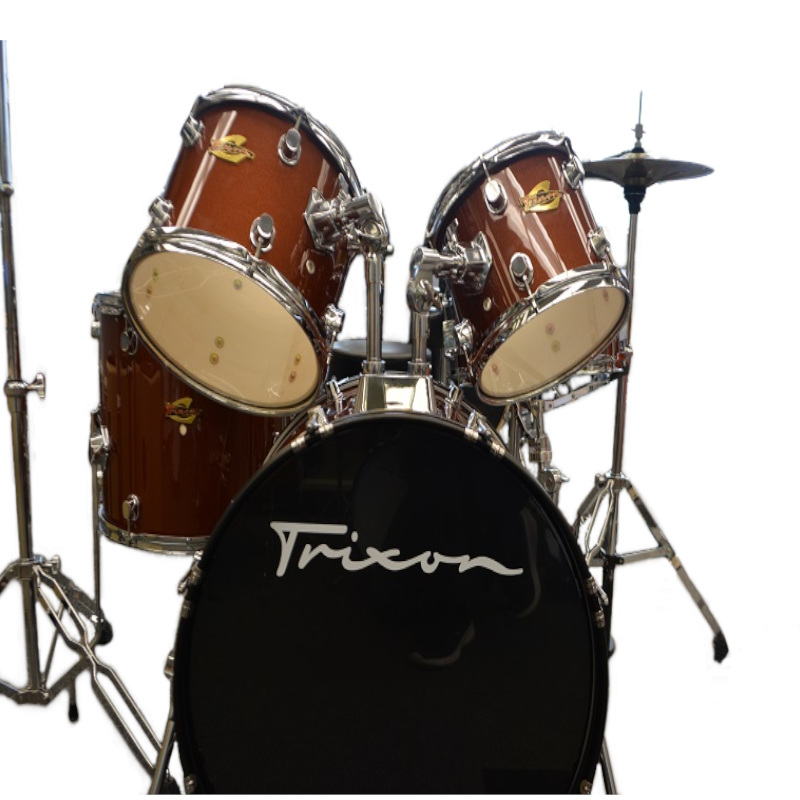 Trixon Brown Sparkle Drum Kit
