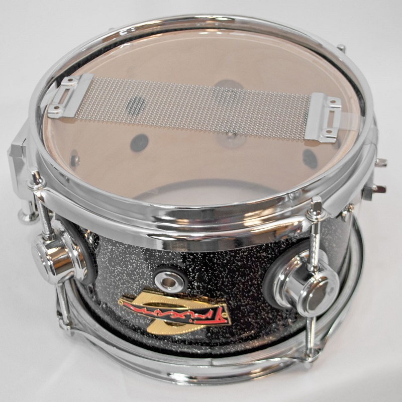 Elite Popcorn Snare Drum - Black Sparkle