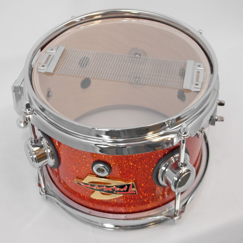 Elite Popcorn Snare Drum - Orange Sparkle