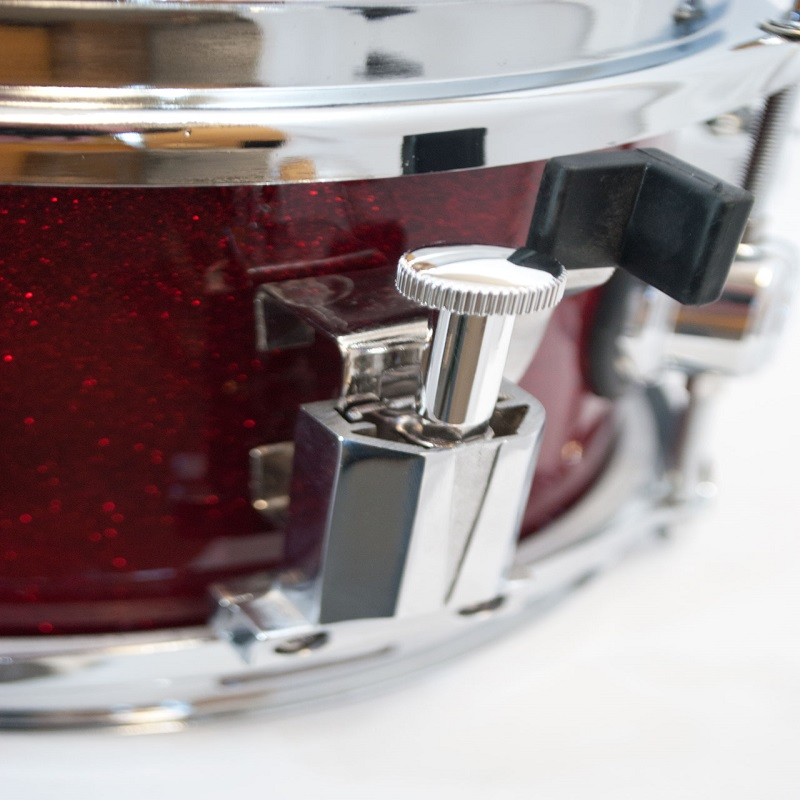 Elite Popcorn Snare Drum - Red Sparkle