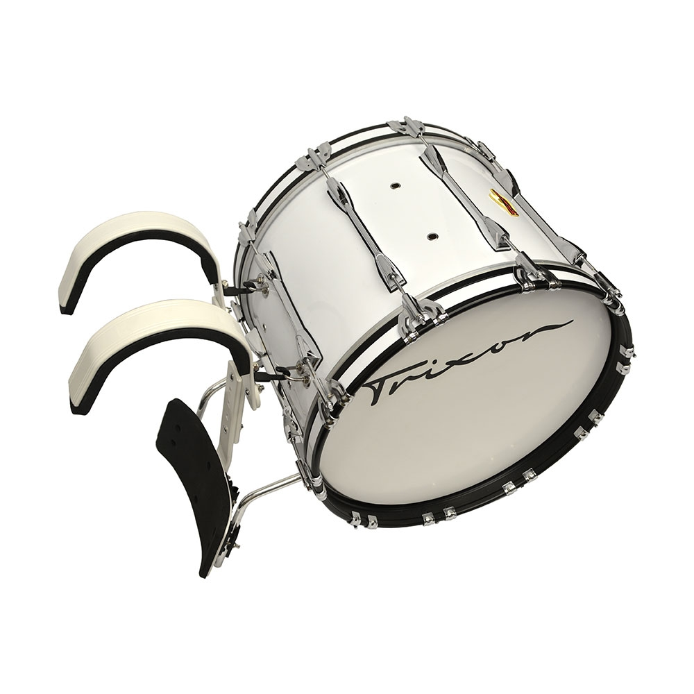 Trixon Field Series Marching Bass Drum 24x14 - White