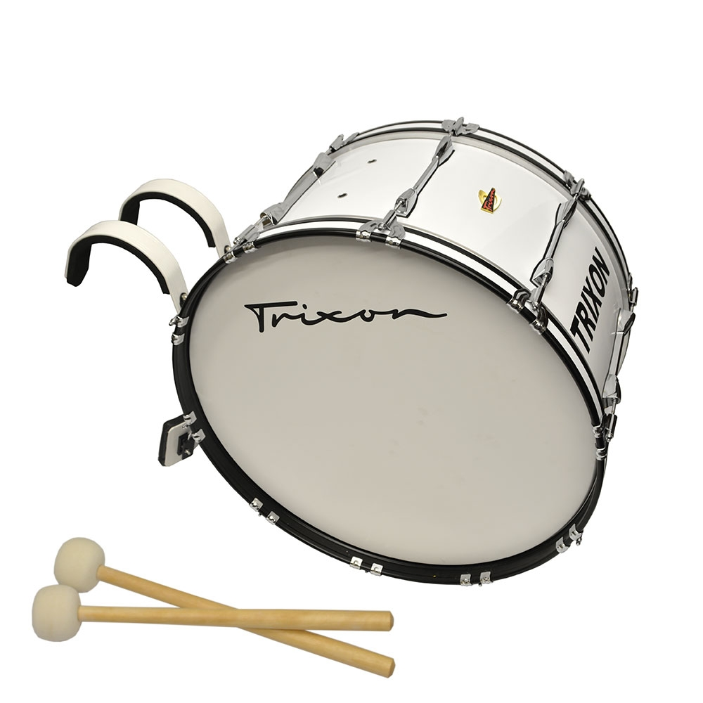 Field Series Marching Bass Drum 24x14 - White