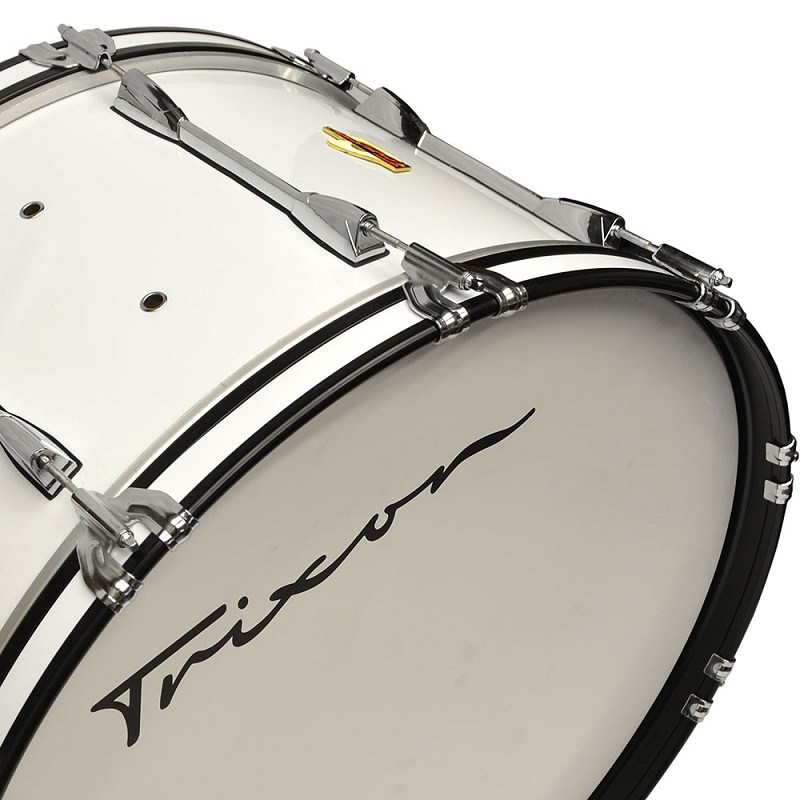 Field Series Marching Bass Drum 26x14 - White