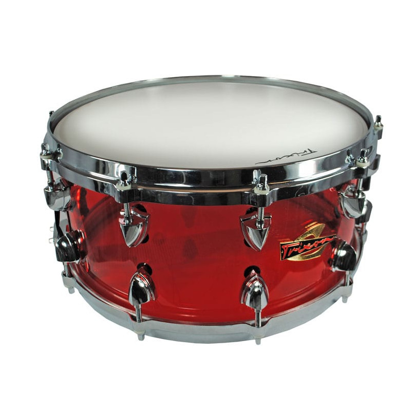 Trixon Solist Acrylic Snare Drum - Red Die Cast