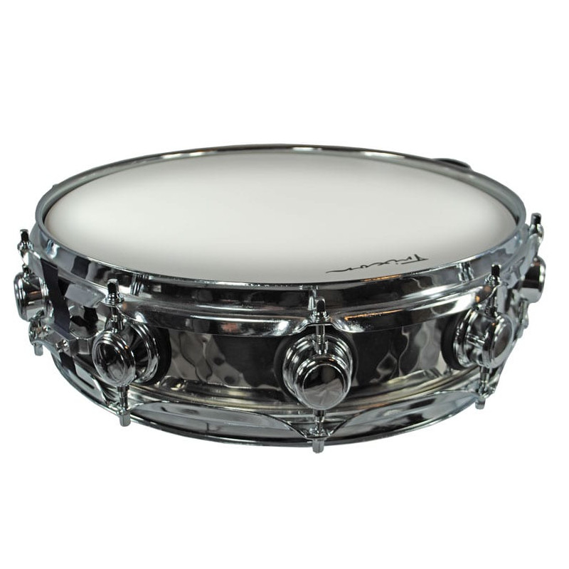 Solist Elite Stainless Steel Piccolo Snare Drum - Hand Hammered
