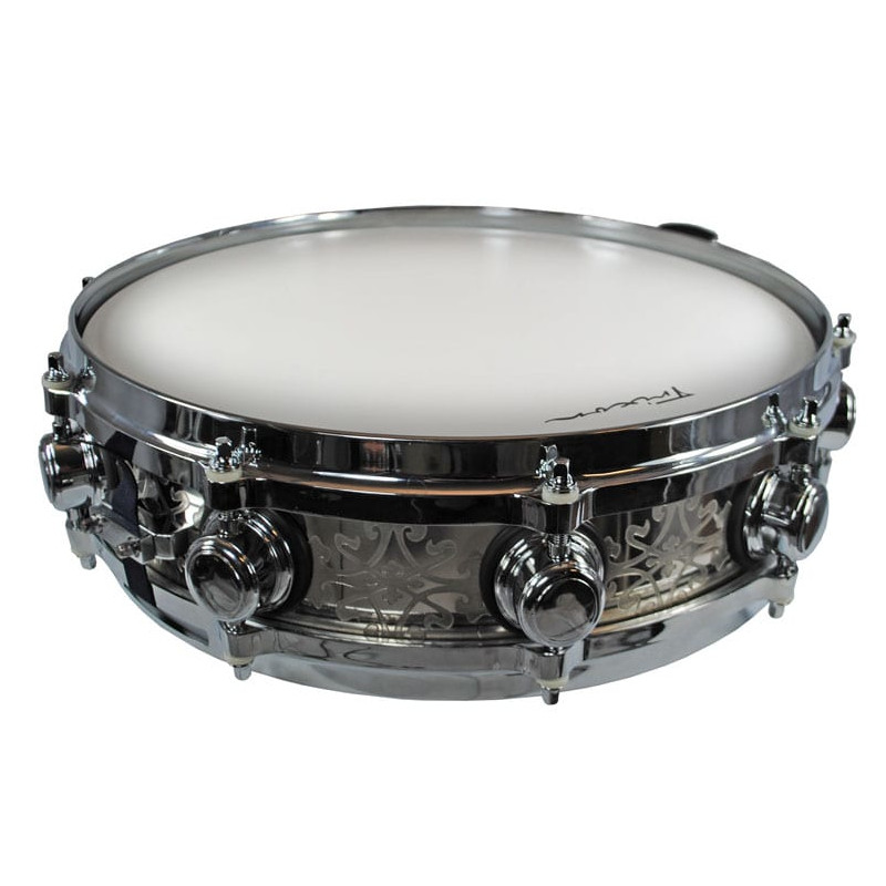 Solist Elite Stainless Steel Piccolo Snare Drum - Hand Etched