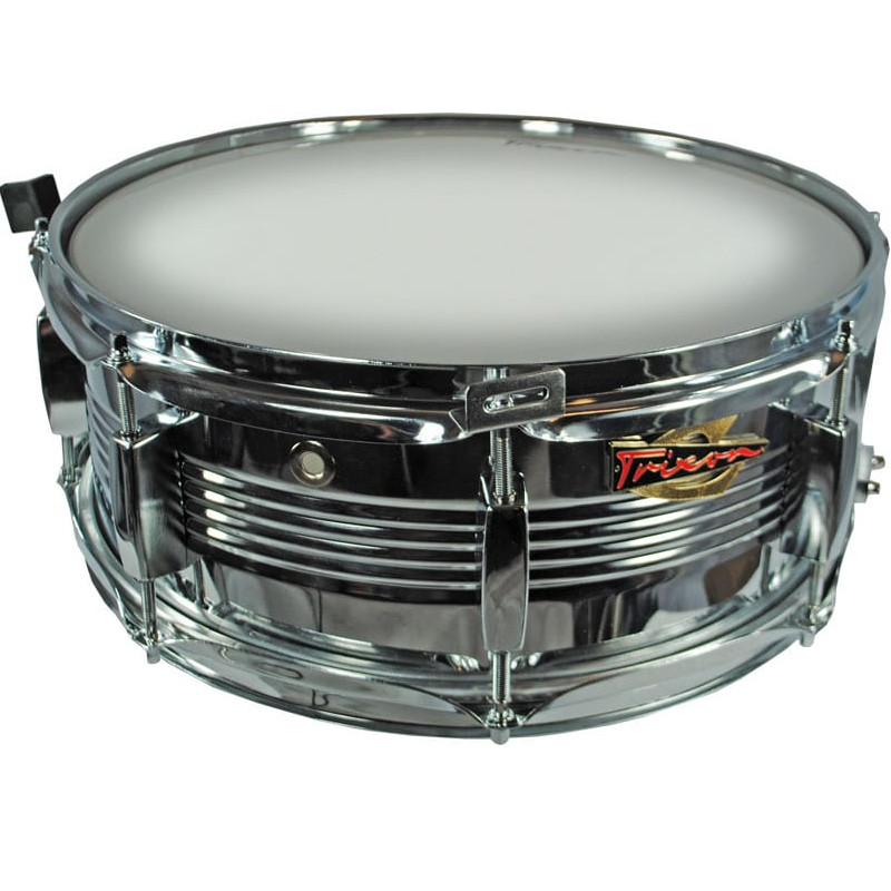 Trixon Solist Elite Chrome Snare Drum with V Rib shell