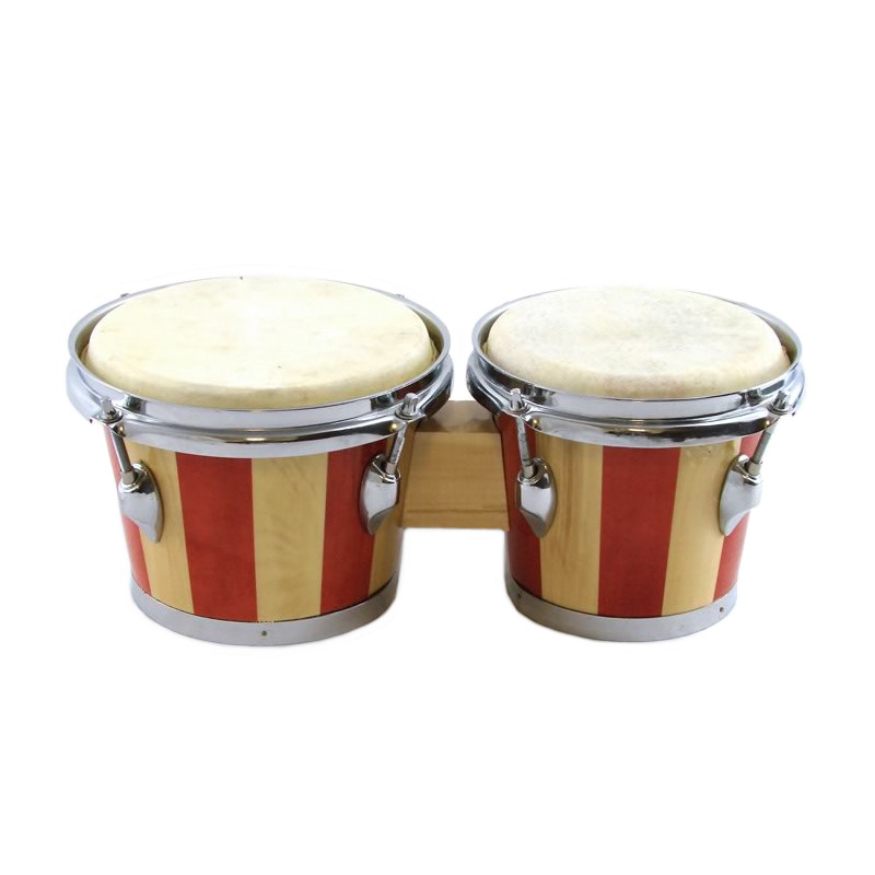 "Trixon Striped Bongo Set - 7"" and 8"""