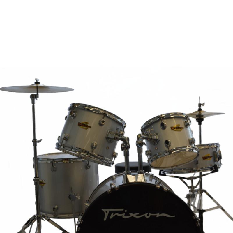 5 Piece Luxus 200 Drumset - Silver Sparkle