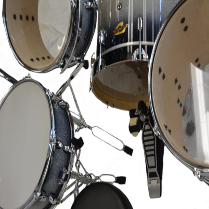 Trixon 4 Piece Swing Drumset - Black Burst Sparkle