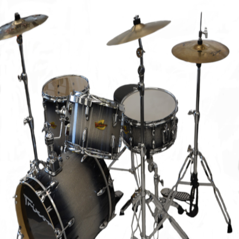 4 Piece Swing Drumset - Black Burst Sparkle