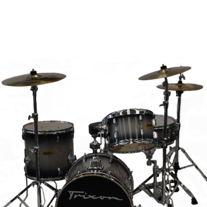 Trixon 4 Piece Swing Drumset - Black Burst Sparkle