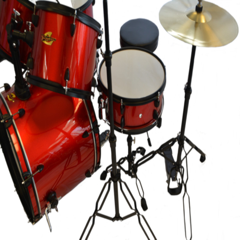 Luxus 100 5 Piece Drumset - Red Sparkle