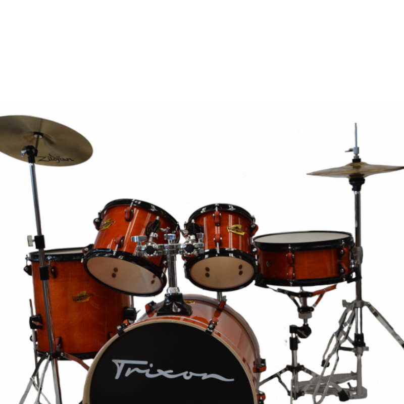 5 Piece Junior Soloist Drum Set - Transparent Orange