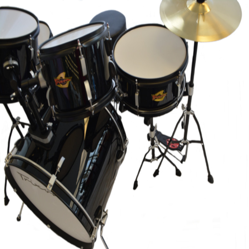 5 Piece Luxus 200 Drumset - Black
