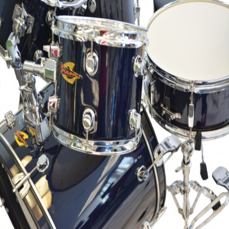 5 Piece Luxus 200 Drumset - Midnight Navy Blue