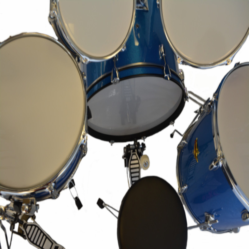 5 Piece Drumset - Blue Sparkle