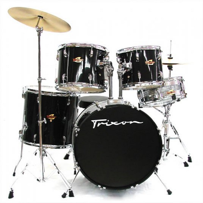 Trixon Luxus 100 Drumset w/Fissaggi Cymbal Pack and Throne - Black