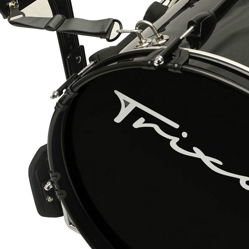Trixon Field Series II Marching Bass Drum 22x12 - Black Polish