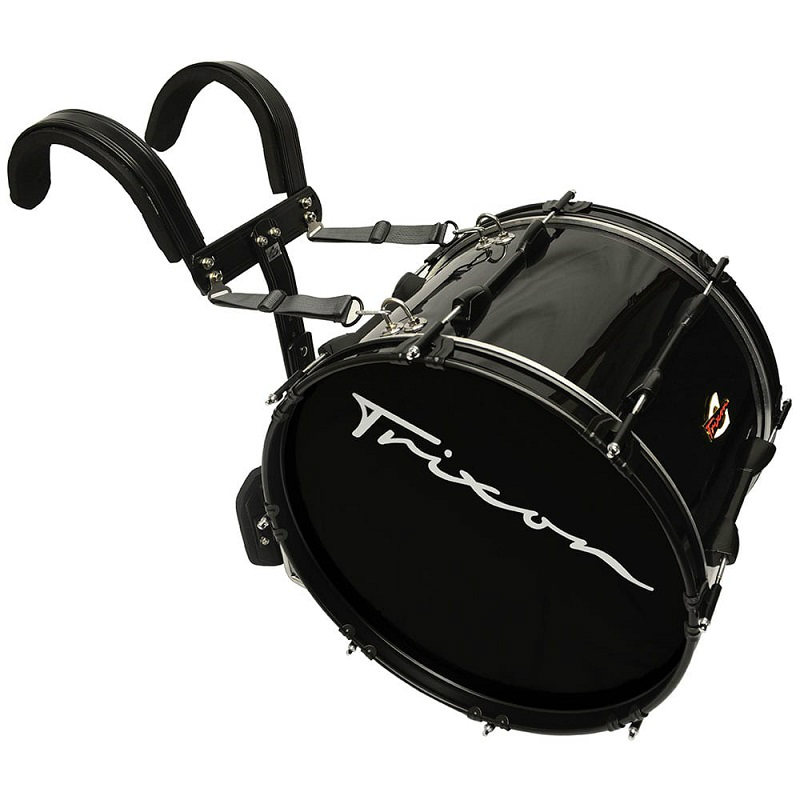 Trixon Field Series II Marching Bass Drum 22x12 - Black Polish