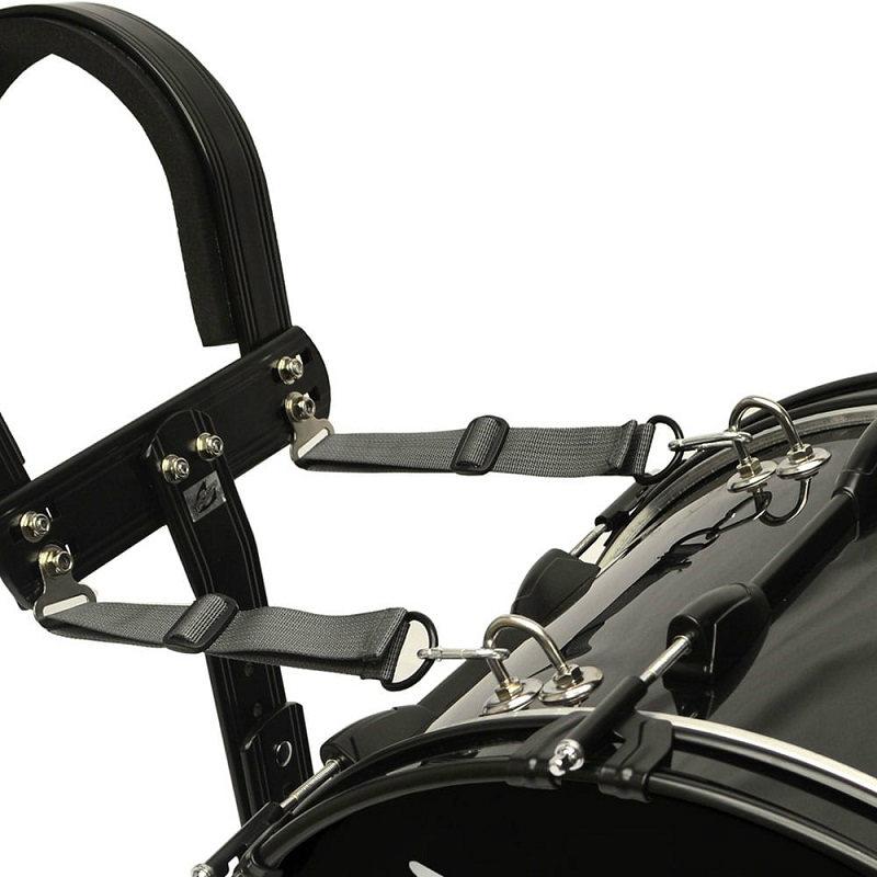 Trixon Field Series II Marching Bass Drum 24x12 - Black Polish