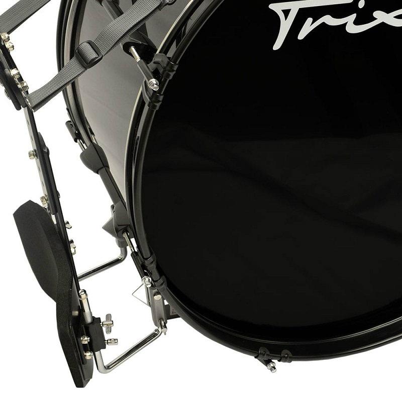 Field Series II Marching Bass Drum 28x12 - Black Polish