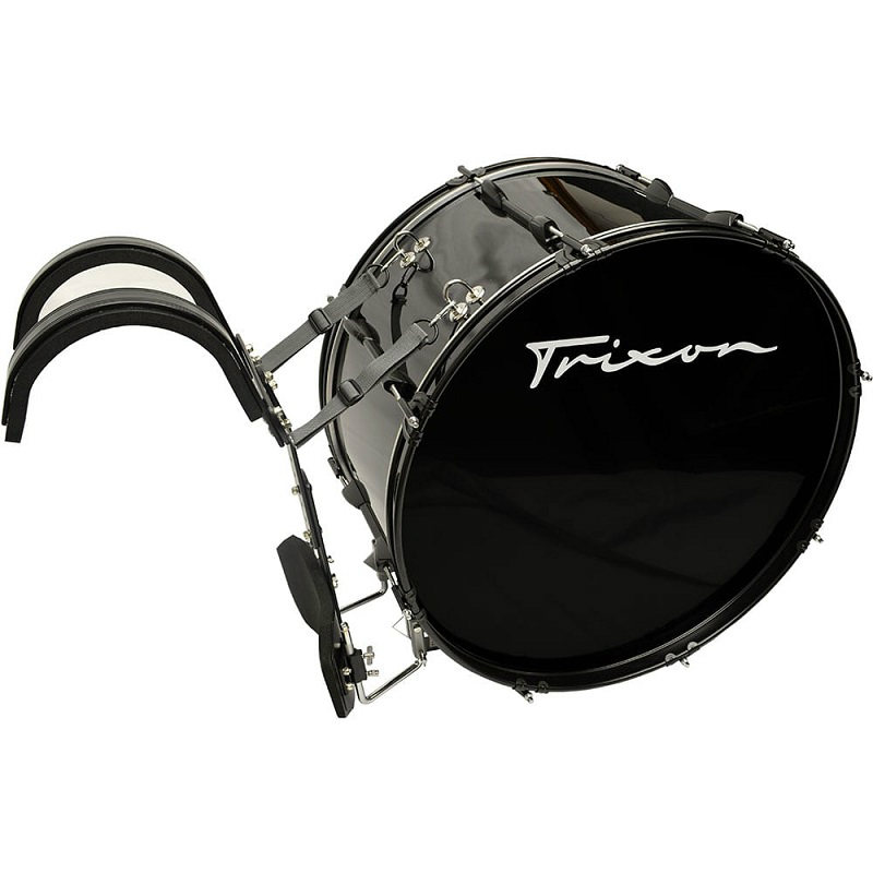 Trixon Field Series II Marching Bass Drum 28x12 - Black Polish