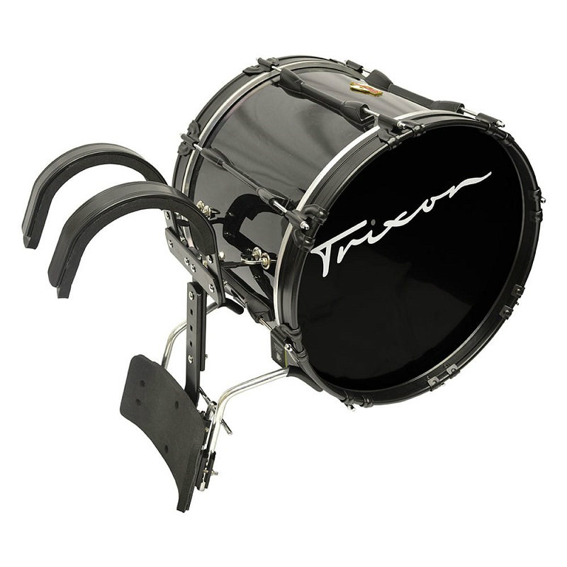Trixon Field Series Marching Bass Drum 22x14 - Black