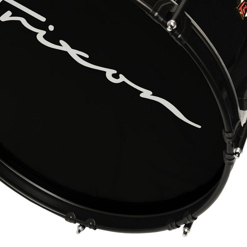 Trixon Field Series Marching Bass Drum 22x12 - Black