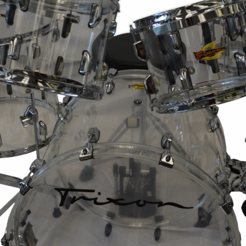 Trixon 5 Piece Drumset - Transparent