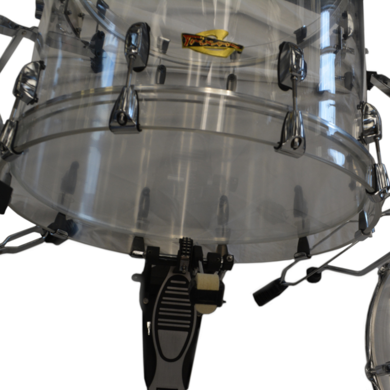 5 Piece Drumset - Transparent