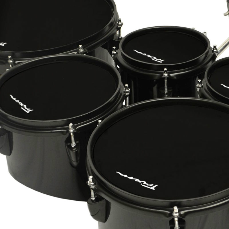 Field Series Tenor Marching Toms - Set Of 6 - Black