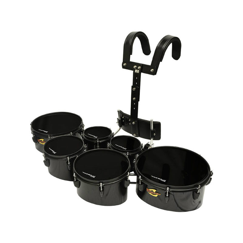 Trixon Field Series Tenor Marching Toms - Set Of 6 - Black