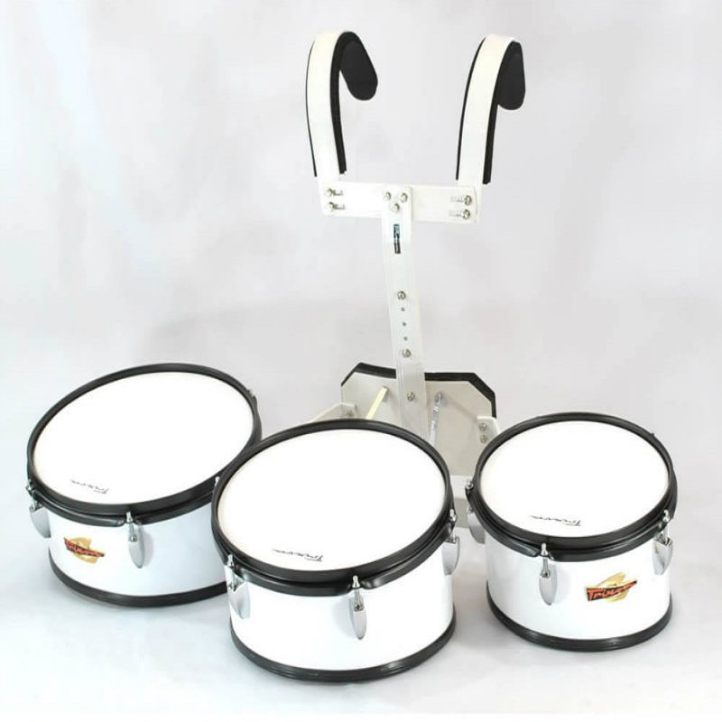 Trixon Field Series II Marching Toms - Set of 3 - White